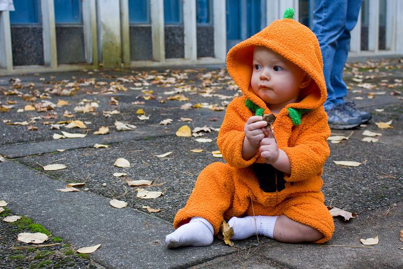 Quinton as a pumpkin