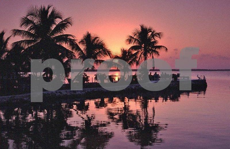 A sunset over Key largo, FL.