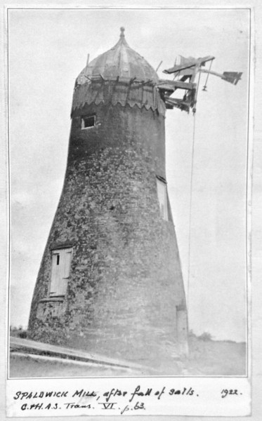 Spaldwick Windmill on Belton's Hill. Kindly provided by the Norris Museum