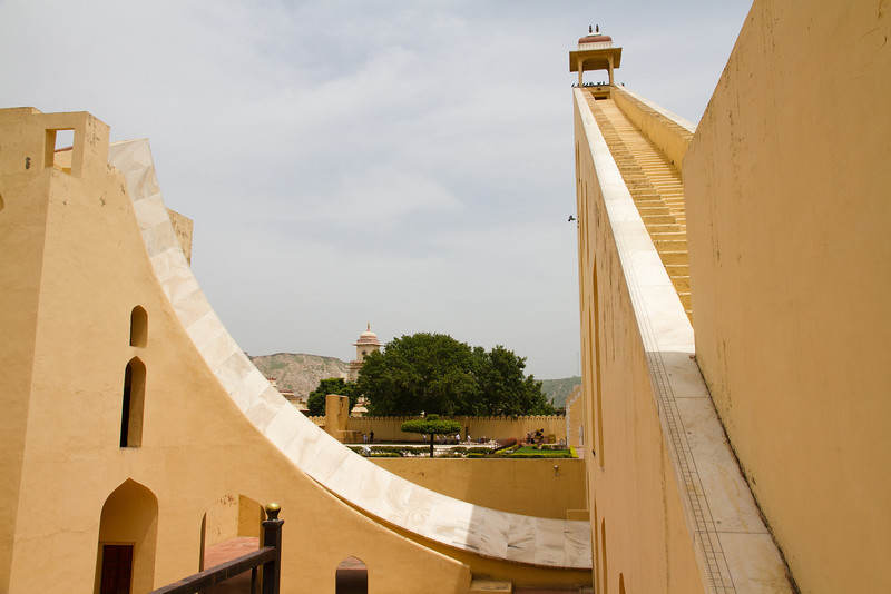 "Jantar Mantar, Jaipur. ""Samrat yantra"" - smaller sun-dial. Accurately tells time to 2 seconds."