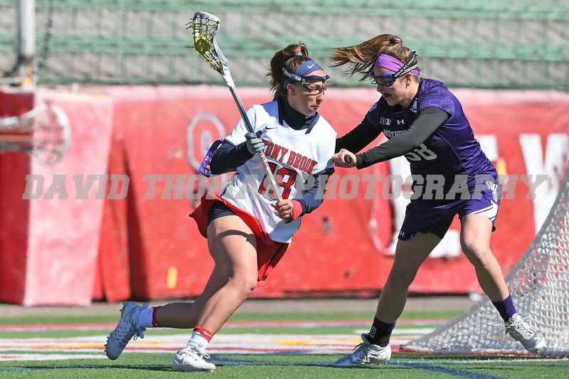 Stony Brook vs Northwestern Women's Lacrosse 2017