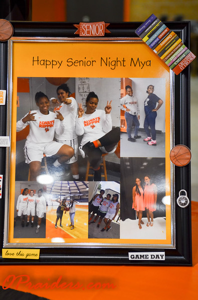 Girls Basketball Senior Night 2017