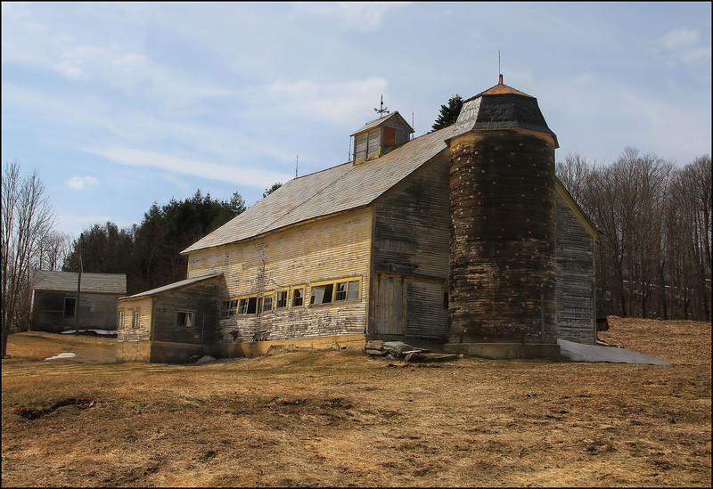 Mount Holly barn restoration in progress.