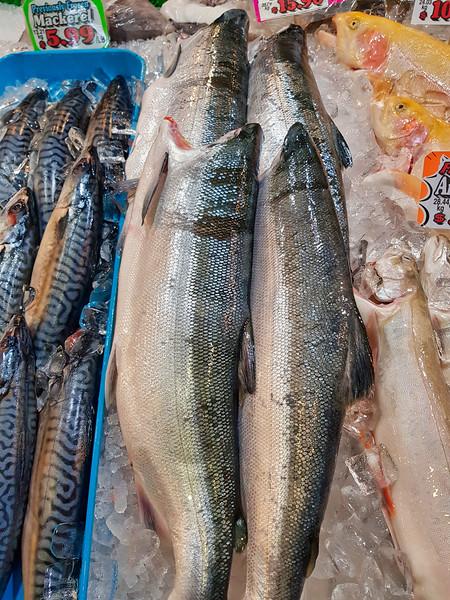 Fresh Salmon On Display