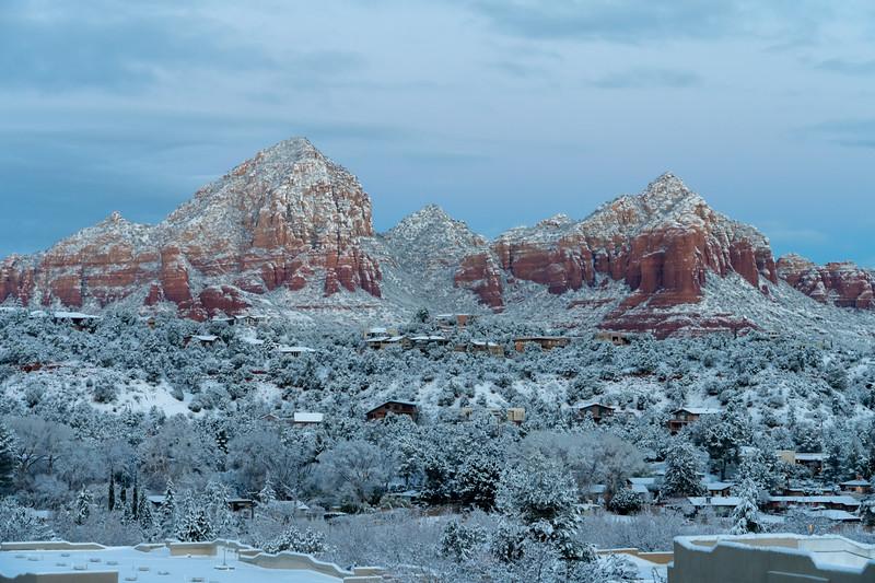 Sedona, Arizona in winter