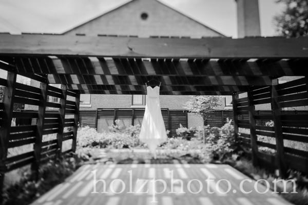 Katie and Aaron B/W Wedding Photos