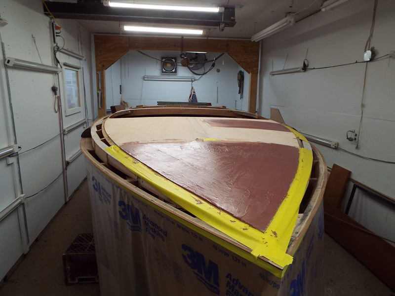 Epoxy added to fill in a low area.