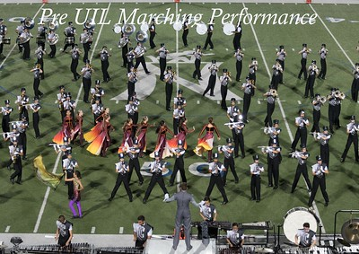 20171003 Pre UIL Marching Performance