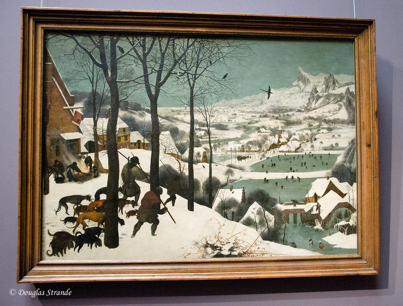 Bruegel's Hunters in the Snow, 1565  --  Art History Museum, Vienna