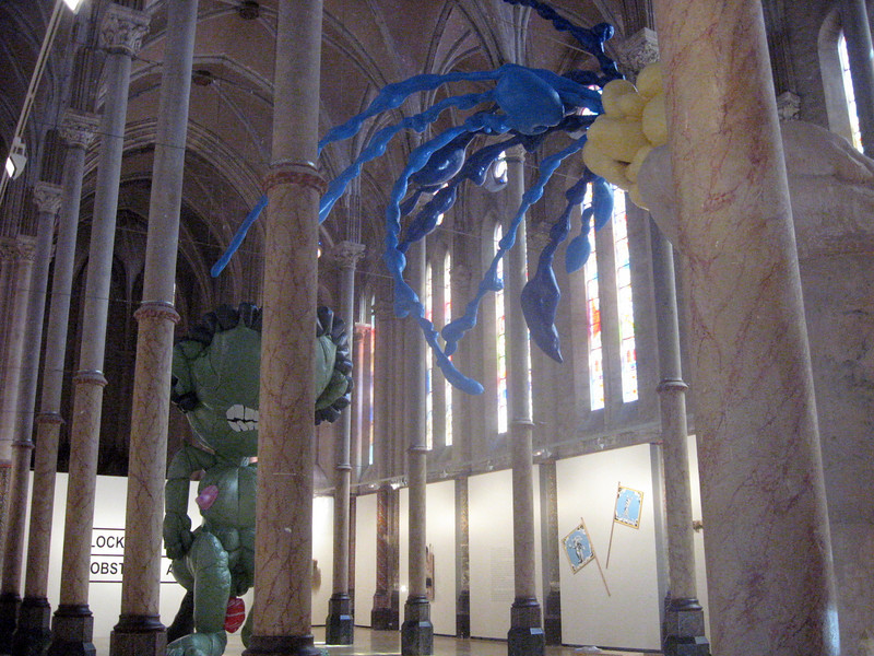 Interior:  Carre Sainte Anne--former cathedral, now an art gallery