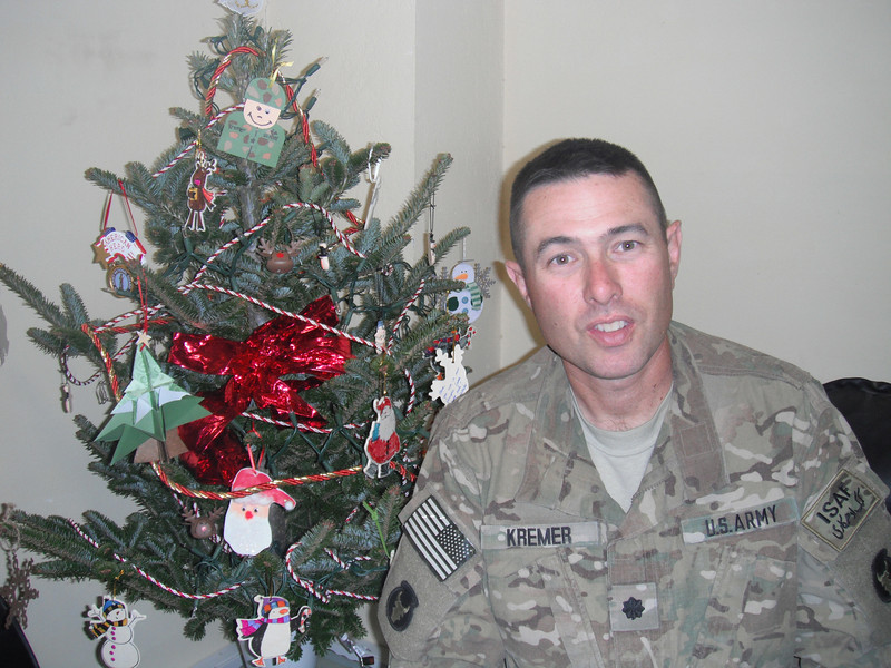 Steve has his tree set up in his office.  No one can believe he has a real tree!  He was very appreciative of the many ornaments!!!!