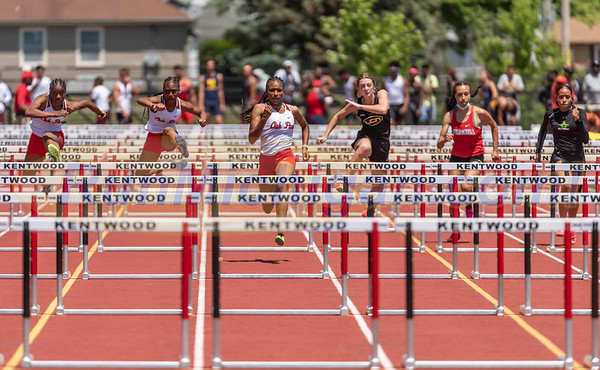 Girls' High Hurdles Gallery 1 - 2021 MHSAA LP T&F Finals - DIVISION ONE
