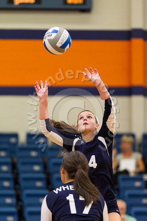Wheaton College Volleyball vs Carthage, September 11, 2012