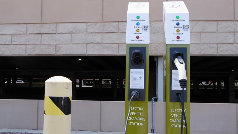 Electric Car Charging Station b-roll