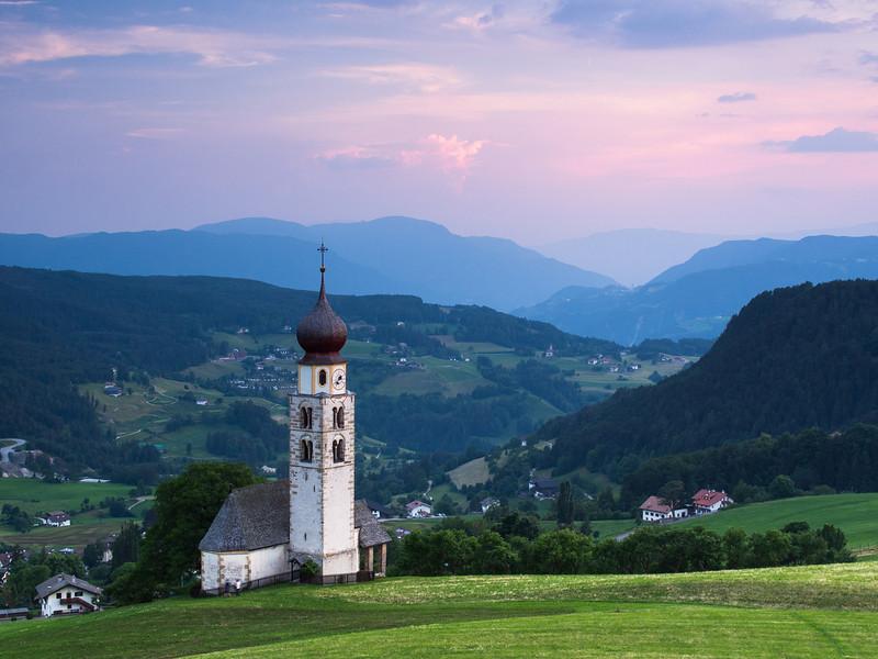 Tirolian Valley Sunset
