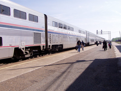 Dallas Amtrak Trip April 2005 -Shirley, Pat, Glenda & Reagan