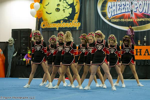 CHS Comp Cheerleaders in Columbus