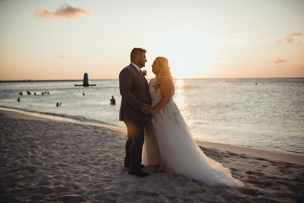 Megan + Aaron Luxury Aruba Destination Wedding