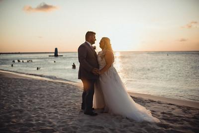 Megan + Aaron Luxury Aruba Destination Wedding