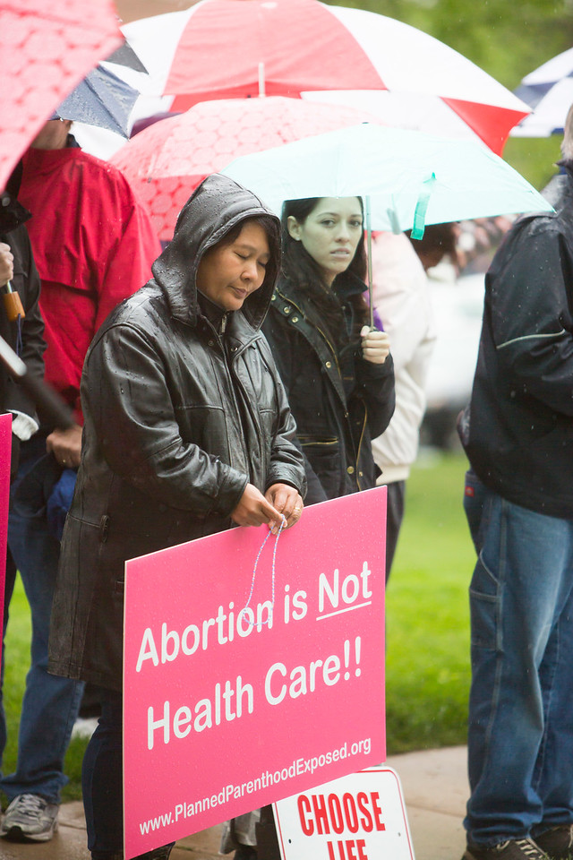 Abortion rally at Planned Parenthood in Leawood, KS 4/29/17<br /> Grace Legaspi, Cure of Ars