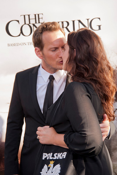 HOLLYWOOD, CA - JULY 15: Actor Patrick Wilson and wife actress Dagmara Dominczyk arrive at the Los Angeles Premiere 'The Conjuring' at ArcLight Cinemas Cinerama Dome on Monday, July 15, 2013 in Hollywood, California. (Photo by Tom Sorensen/Moovieboy Pictures)