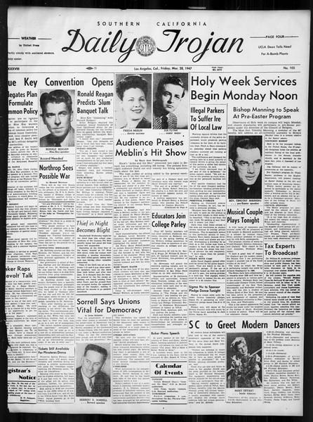 Daily Trojan, Vol. 38, No. 105, March 28, 1947