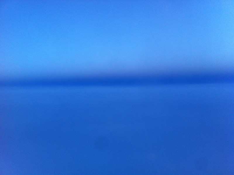 Blue sky from the airplane, 2013