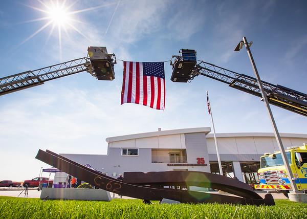 9/11 Steel Dedication at Fire House 35 (09-10-2021)