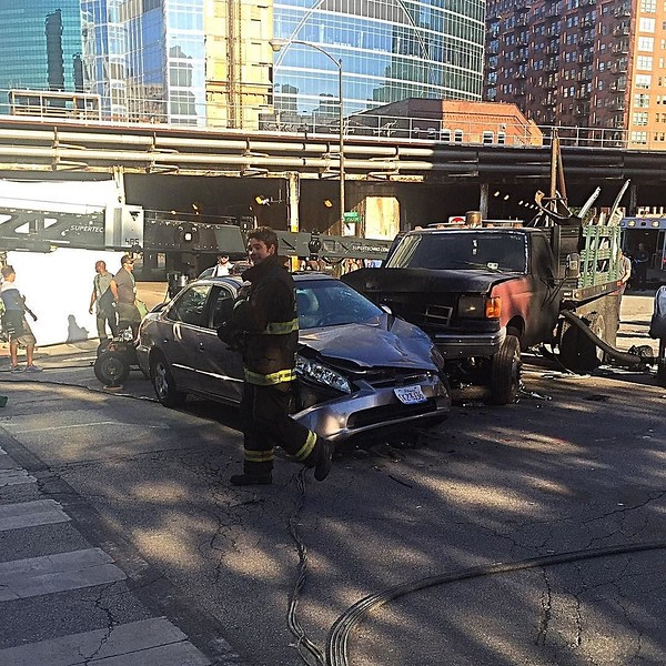 Filming #ChicagoFire near the train station today