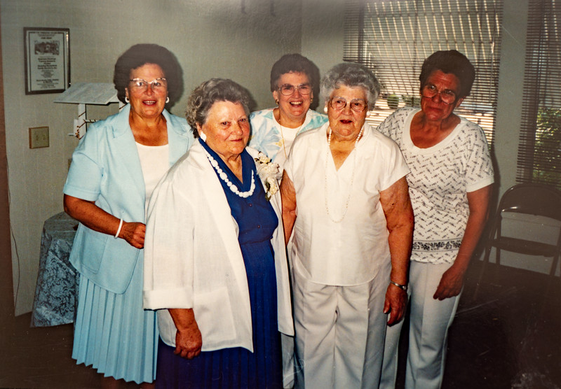Mae Betty Piersol, Josephine, Kate and ? in Boise ID, August 24, 1991