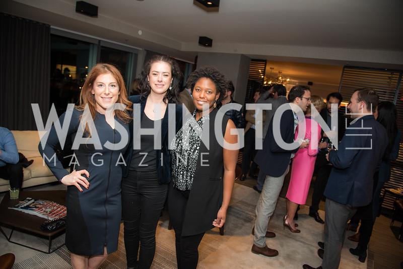 Jayne Sandman, Dale Nirvani Pfeifer, Jade Floyd,  Washington Life, Tech Issue Party, One Hill South, March 4, 2019, photo by Ben Droz.