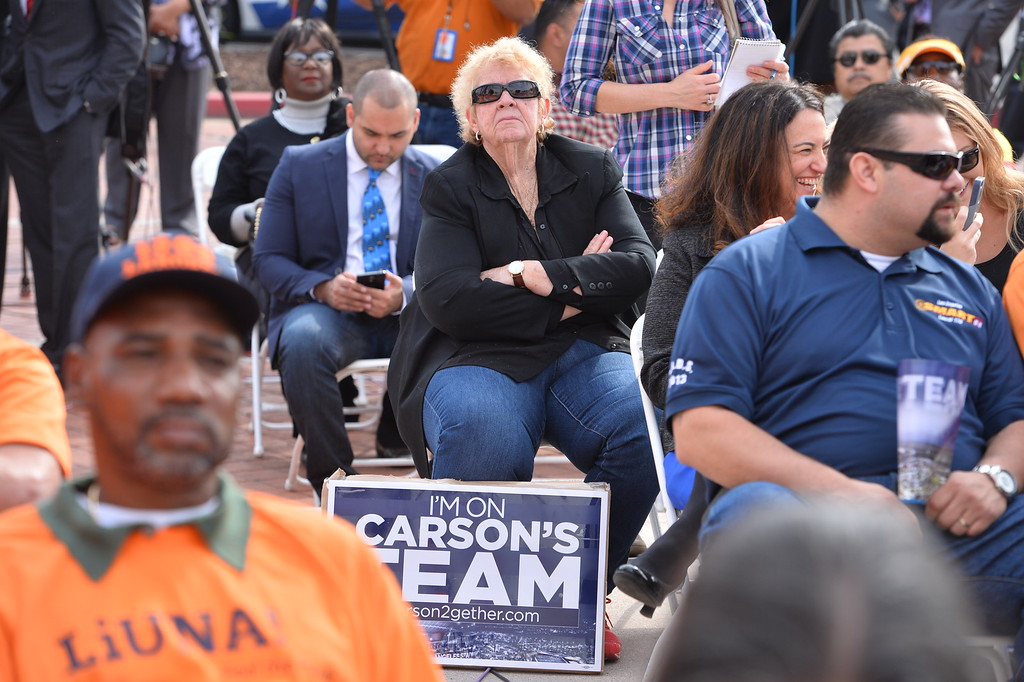 . Press conference in Carson to announce stadium proposal to lure 2NFL teams to the city .Photo by Brad Graverson/The Daily Breeze 2-20-15