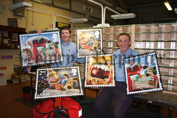 Launch Christmas Stamps in Newry Cracking Idea Lad! Wallace And Gromit
