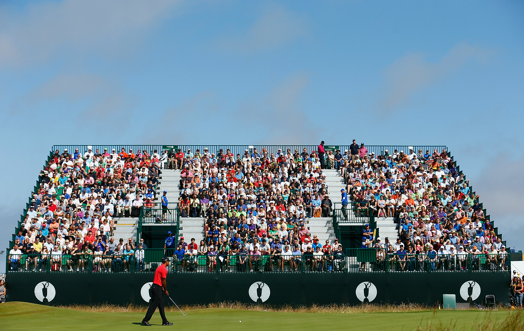 . Tiger Woods of the United States putts on the 7th green during the final round of The 143rd Open Championship at Royal Liverpool on July 20, 2014 in Hoylake, England.  (Photo by Tom Pennington/Getty Images)
