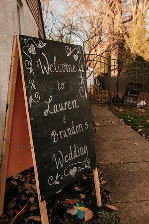 Lauren + Brandon | Backyard Micro Wedding | 11.28.2020