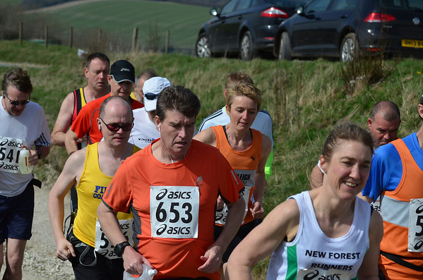 Start - Combe Gibbet to Overton 16m. 2014