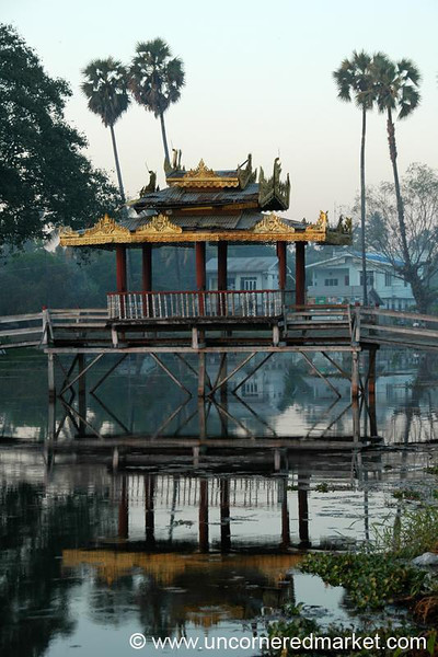 Dusk on the Lake - Toungoo, Burma