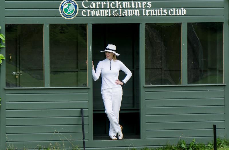 Karen awaiting her turn to play. Photo by Robert Miller