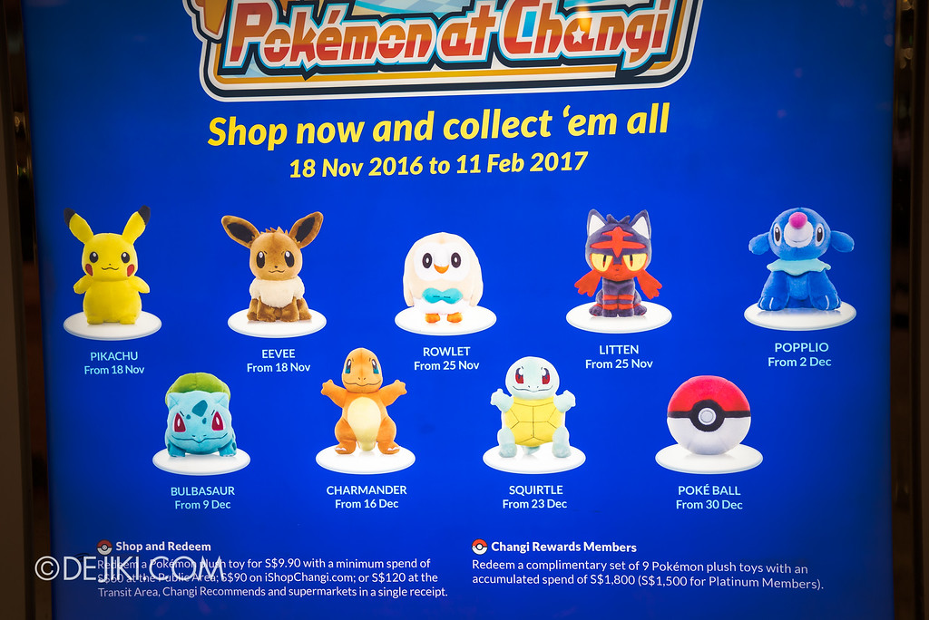 Pokémon at Changi Airport - Redemption Schedule, 9 to collect