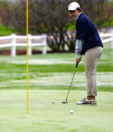 4/30/2019 Mike Orazzi   Staff Bristol Eastern's Mollie Lewis during Tuesday's match with Bristol Central at Chippanee Golf Club.