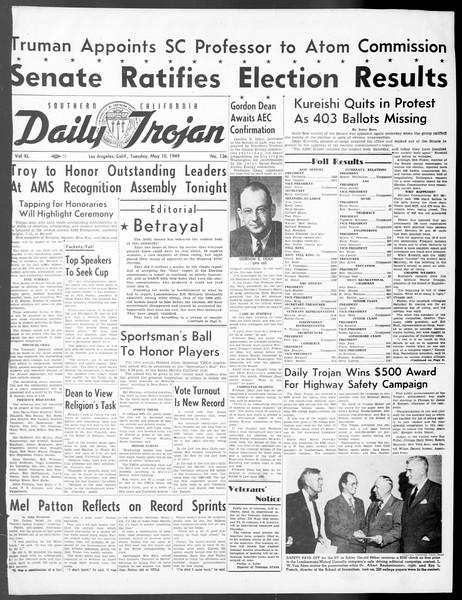Daily Trojan, Vol. 40, No. 136, May 10, 1949