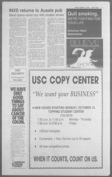 Daily Trojan, Vol. 113, No. 29, October 12, 1990