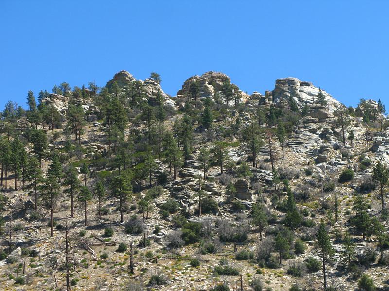 close to gaining the ridge