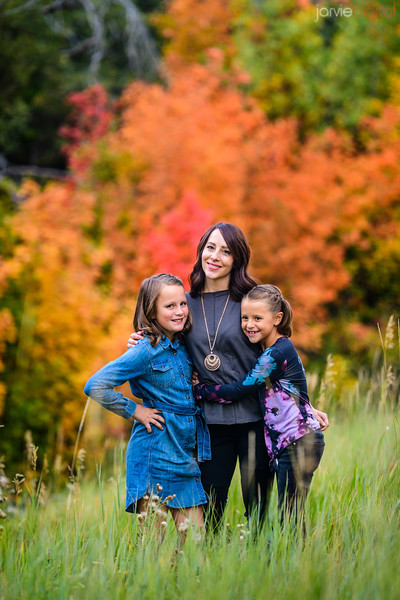fall - jacque and kids