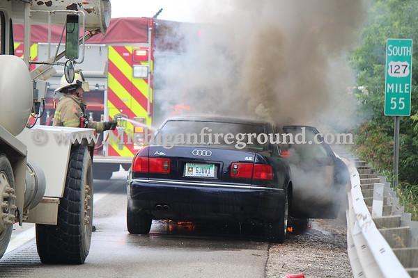 7/15/20 - Leslie car fire, US-127 @ mile marker 55