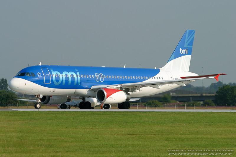 G-MIDO. Airbus A320-232. BMI. Glasgow. 070803.