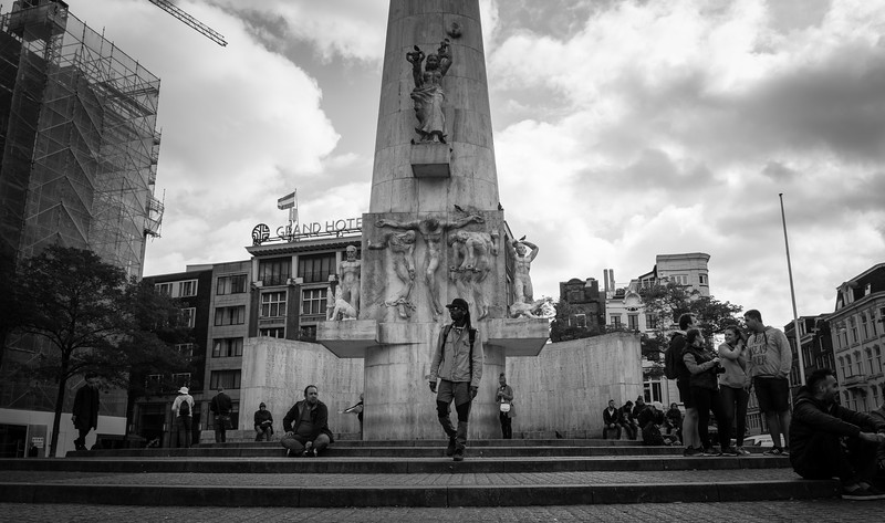 The National Memorial Statue in Dam Square