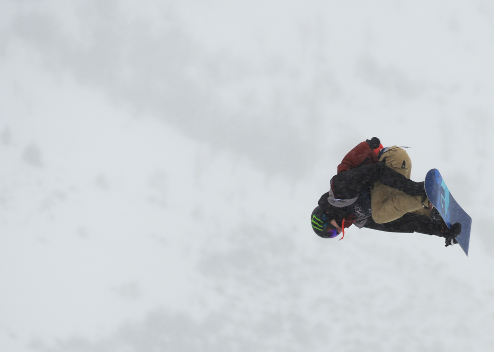. Maxence Parrot of Canada is in action during the men\'s slope style final of the Burton U.S. Open. Vail, Colorado. March 7. 2014. (Photo by Hyoung Chang/The Denver Post)
