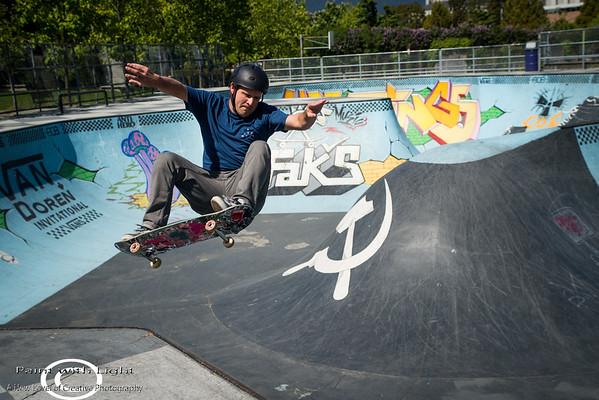 Skate boarding at Hastings Park