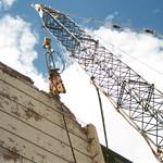 NPK M38G concrete pulverizer on crane-commerical demolition-Buffalo 7-8-00 (6).jpg